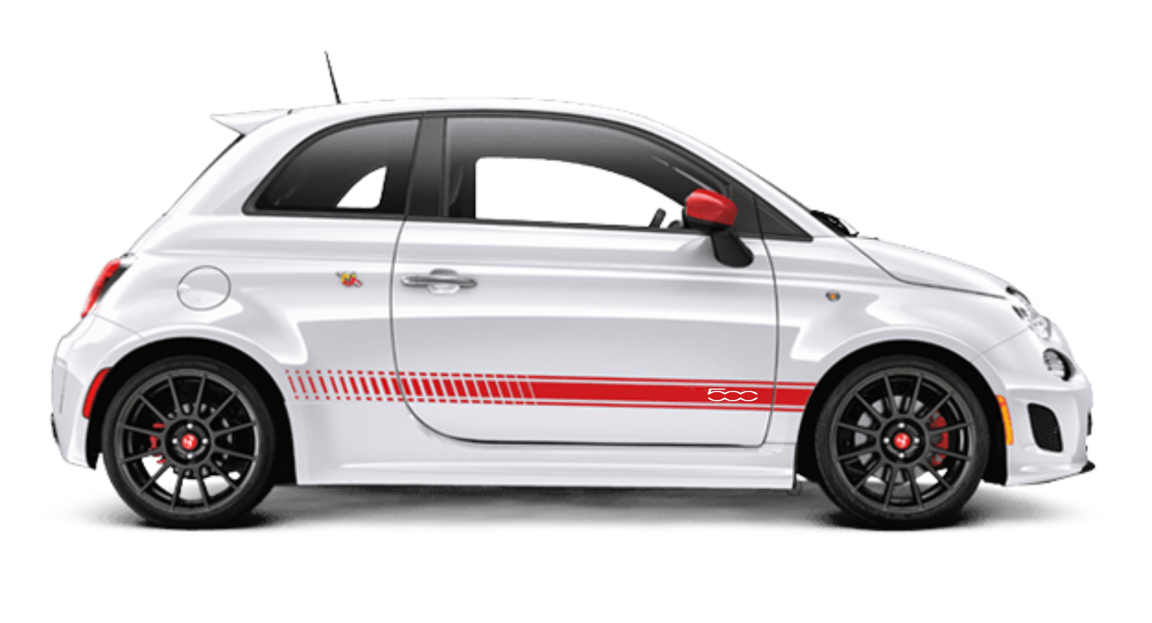 Fiat 500 custom side stripes decal stickers free post uk seller quick despatch